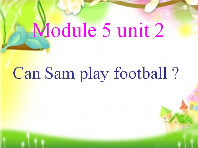 四年级上册英语课件-Module 5 Unit 2 Can Sam play football|外研版(三起)